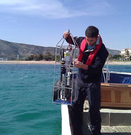 Columna de agua y fondo marino